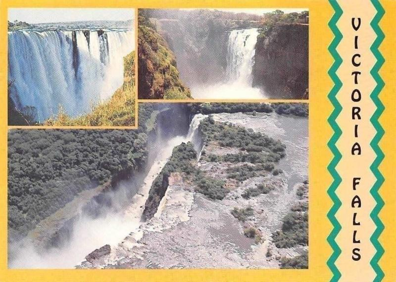 Zimbabwe Victoria Falls, Aerial view showing Main Gorge, The Devil's Cataract