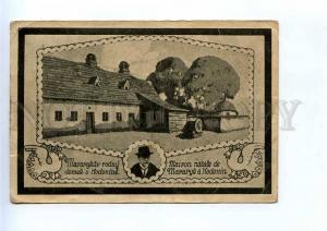 196365 CZECH Hodonine president Masaryk house 1947 year RPPC