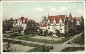 Chicago IL University Bldgs c1910 Detroit Publishing Postcard
