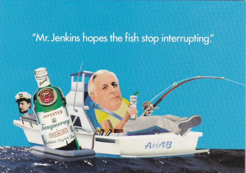 Advertising Tanqueray Gin Mr Jenkins Hopes The Fish Stop Interrupting