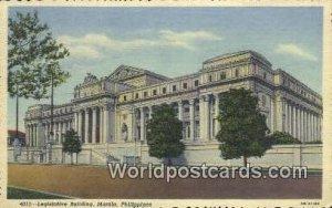 Legislative Building Manila Philippines Writing On Back