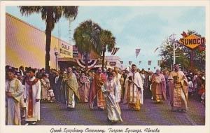 Greek Epiphany Ceremony On Way To Spring Bayou Tarpon Springs Florida
