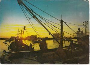 BARLETTA, Sunset on the Harbor, used Postcard