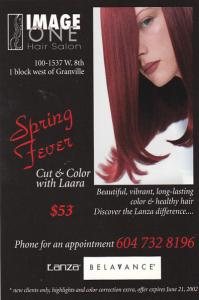 Advertising Image One Hair Salon Vancouver