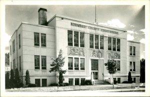 Vtg Postcard 1940s RPPC Court House - Bonners Ferry Idaho ID  - UNP