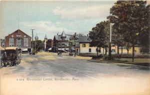 Winchester Massachusetts~Winchester Centre~Street Scene~Railroad Xing~Houses~'05