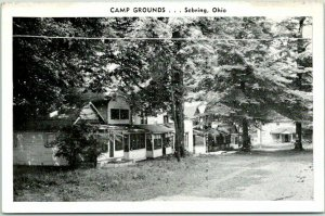 Sebring, Ohio Postcard CAMP GROUNDS Roadside Kropp c1940s Unused