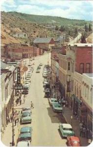 Aerial View, Main Street, Central City, famous old mining town, Colorado, PU-...