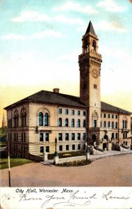 Massachusetts Worcester City Hall 1906
