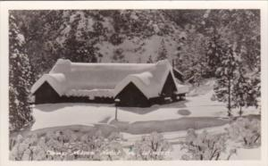 California Porterville Camp Nelson Hotel In Winter Real Photo
