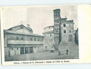 Pre-1907 CHIESA E PIAZZA DI GIOVANNI Rome Italy F5182