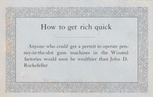 WINSTED , Connecticut, 00-10s ; How to get rich quick
