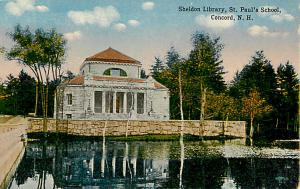 Sheldon Library, St. Paul's School, Concord, New Hampshire, NH, Divided Back
