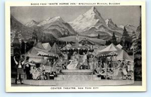 Postcard NY New York City Center Theatre White Horse Inn Musical Cast K15