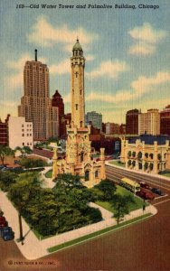 Illinois Chicago Old Water Tower and Palmolive Building