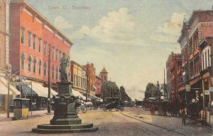 SALEM, OH Broadway Street Scene Ohio 1909 Vintage Postcard