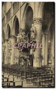 Old Postcard Bruxelles Eglise Sainte Gudule The Chair of Truth