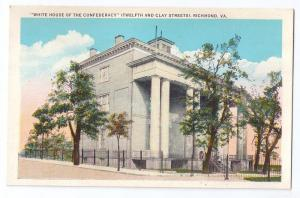 Richmond VA White House of the Confederacy Postcard