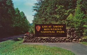 Entrance to Great Smoky Mountains National Park - Tenessee or North Carolina