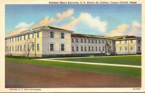 Texas Corpus Christi Enlisted Men's Barracks U S Naval Air Station Curteich