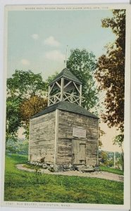 Lexington Mass Old Belfrey c1920s Postcard J3