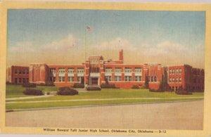 OKLAHOMA CITY - NICE view of William Howard Taft Junior High School, 1940s