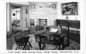 Plainfield New Jersey Drake House Dining Room Real Photo Antique Postcard K71620