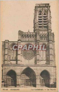 Old Postcard Soissons - The Cath�drale - The Fa�ade