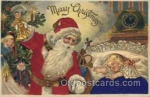 Silk Christmas Santa Claus writing on back writing on back