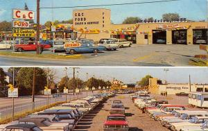 Horsham PA C&C (Chapman) Ford Car Dealer~Acres of Cars~1960s Station Wagons~PC