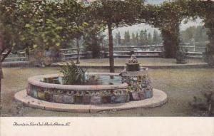 Illinois Peoria Fountain Glen Oak Park 1908