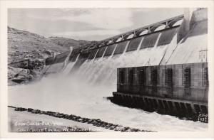 Washington Grand Coolee Dam and West Power House Real Photo