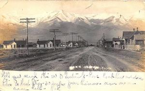 Cañon City CO Dirt Street View RPPC Postcard