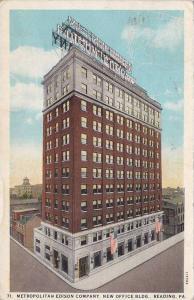 Metropolitan Edison Company, New Office Building, Reading, Pennsylvania, 1910...