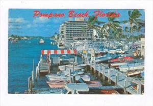 Yacht Basin & Beautiful Apartment Building, Pompano Beach, Florida, PU-1968