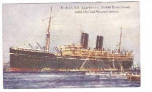 P. & O. S.S. Rajputana, India Mail and Passenger Service, Ocean Liner, 10-20s