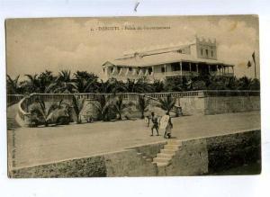 191802 DJIBOUTI Governement palace Vintage postcard