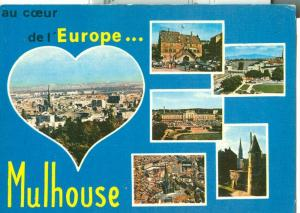 France, an Coeur de l'Europe Mulhouse, 1980 used Postcard