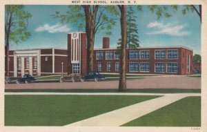 AUBURN, New York ,1930-1940s ; West High School