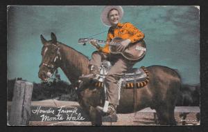 ARCADE CARD Cowboy Entertainer Monte Hale