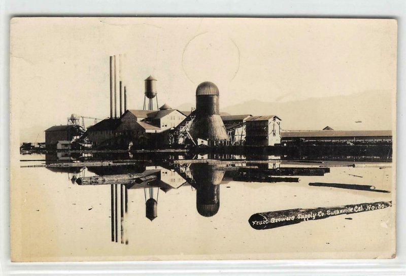 RPPC Fruit Growers Supply Co. SUSANVILLE, CA Lassen County 1931 Vintage Postcard