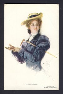 A THOROUGHBRED (no number) R&N woman riding crop,  HARRISON FISHER artist