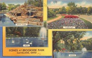 LPS09 CLEVELAND Ohio Brookside Park Views Postcard