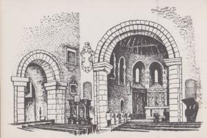 St Nicholas Church Saxon Worth Sussex Drawing Painting Postcard