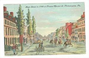 High Street In 1799, Philadelphia, Pennsylvania, 1909