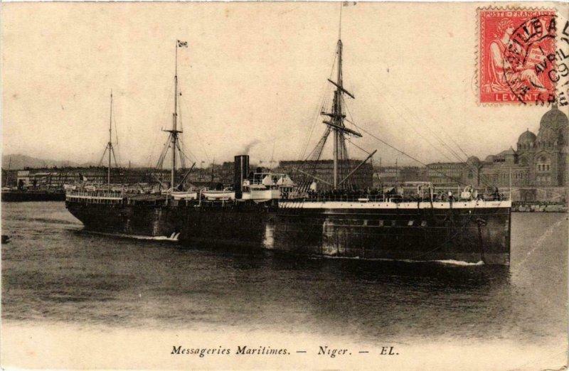 CPA AK Niger Messageries Maritimes SHIPS (755113)