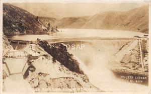 C70/ Boise Idaho Id Real Photo RPPC Postcard Arrow Rock Dam Lubken Image c1910