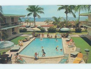 Unused Pre-1980 OLD CARS & SEA SPRAY MOTEL Riviera Beach Florida FL n9567