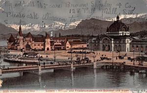 Switzerland Old Vintage Antique Post Card Luzern Kriegs 1906