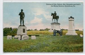 General Buford Reynolds Hall 2d Maine Battery Gettysburg PA 1910c postcard